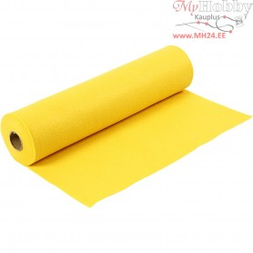 Craft Felt, W: 45 cm, thickness 1,5 mm, yellow, 5m, 180-200 g/m2