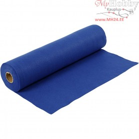 Craft Felt, W: 45 cm, thickness 1,5 mm, blue, 5m, 180-200 g/m2