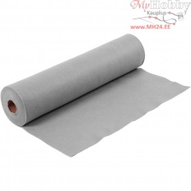 Craft Felt, W: 45 cm, thickness 1,5 mm, grey, 5m, 180-200 g/m2