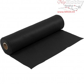 Craft Felt, W: 45 cm, thickness 1,5 mm, black, 5m, 180-200 g/m2