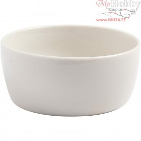 Bowl, D: 12,5 cm, H: 5,5 cm, white, 20pcs