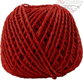 Paper Yarn, thickness 2,5-3 mm, approx. 42 m, red, 150g