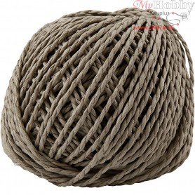 Paper Yarn, thickness 2,5-3 mm, approx. 42 m, light brown, 150g
