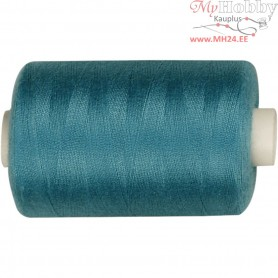Sewing Thread, petrol, polyester, 1000m