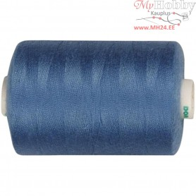 Sewing Thread, mid-blue, polyester, 1000m