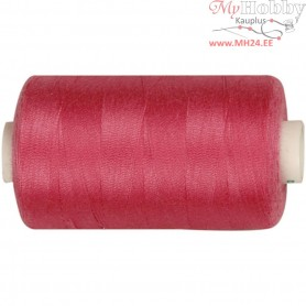 Sewing Thread, pink, polyester, 1000m