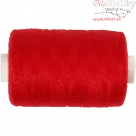 Sewing Thread, red, polyester, 1000m