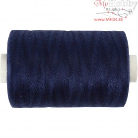 Sewing Thread, navy blue, polyester, 1000m