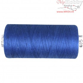 Sewing Thread, mid-blue, cotton, 1x1000m