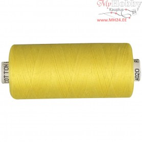 Sewing Thread, yellow, cotton, 1000m