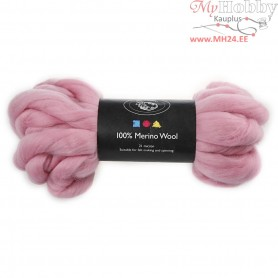 Merino Wool,  21 micron, light pink, South Africa, 100g