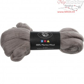 Merino Wool,  21 micron, natural grey, South Africa, 100g