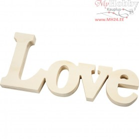 Decoration Word, Love, size 23x10 cm, thickness 15 mm, 1pc