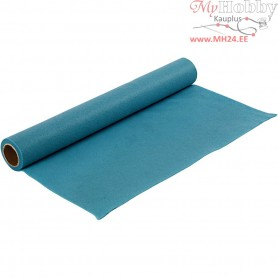 Craft Felt, W: 45 cm, thickness 1,5 mm, turquoise, 1m, 180-200 g/m2