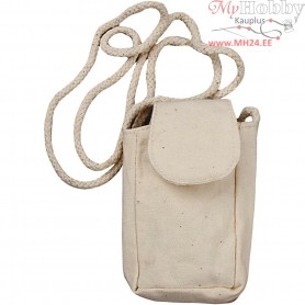 Mobile Phone Bag, size 5x9x3 cm, light natural, 3pcs