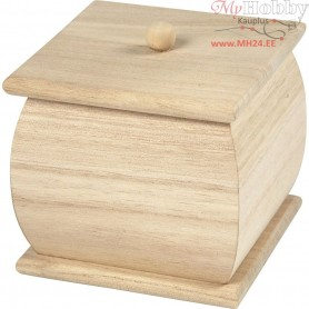 Mini Box with Lid, size 7,5x7,5x8 cm, empress wood, 1pc