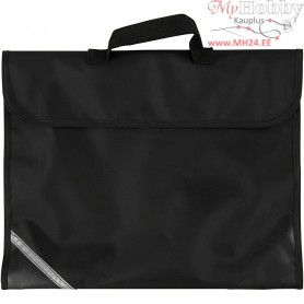 School Bag, size 36x29 cm, depth 9 cm, black, 1pc