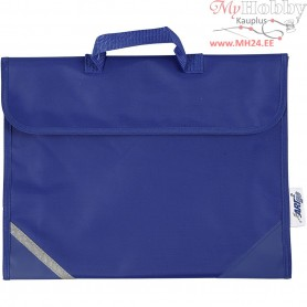 School Bag, size 36x29 cm, depth 9 cm, blue, 1pc