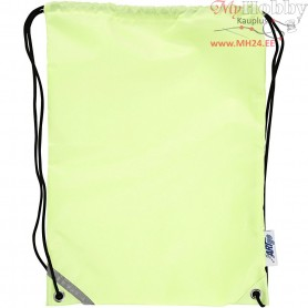 Drawstring bag, size 31x44 cm, fluorescent yellow, 1pc