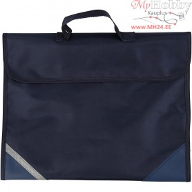 School Bag, size 36x29 cm, depth 9 cm, dark blue, 1pc