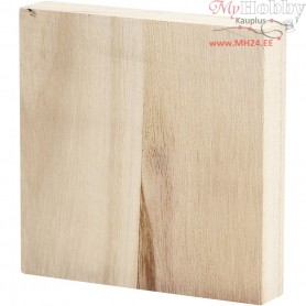 Icon Plate, size 9,6x9,6 cm, thickness 20 mm, empress wood, 1pc