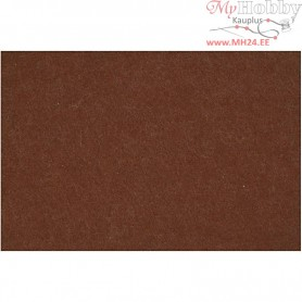 Craft Felt, sheet 42x60 cm, thickness 3 mm, brown, 1sheet