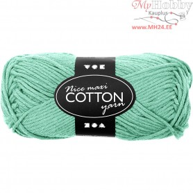 Cotton Yarn, L: 80-85 m, green, maxi, 50g