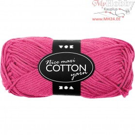 Cotton Yarn, L: 80-85 m, pink, maxi, 50g