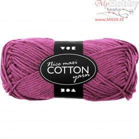 Cotton Yarn, L: 80-85 m, violet, maxi, 50g