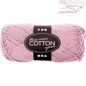 Cotton Yarn, L: 80-85 m, antique pink, maxi, 50g
