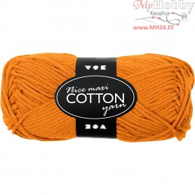 Cotton Yarn, L: 80-85 m, orange, maxi, 50g