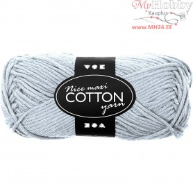 Cotton Yarn, L: 80-85 m, light blue, maxi, 50g
