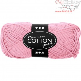 Cotton Yarn, L: 80-85 m, light red, maxi, 50g