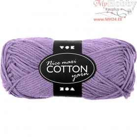 Cotton Yarn, L: 80-85 m, purple, maxi, 50g