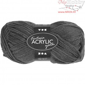 Fantasia Acrylic Yarn, L: 80 m, grey, 50g