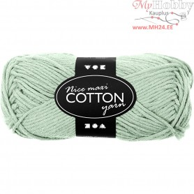 Cotton Yarn, L: 80-85 m, light green, maxi, 50g