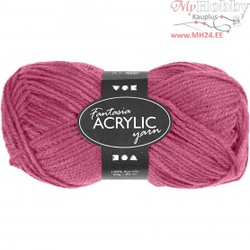 Fantasia Acrylic Yarn, L: 80 m, antique rose, 50g