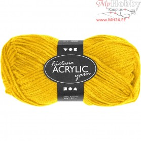 Fantasia Acrylic Yarn, L: 80 m, yellow, 50g