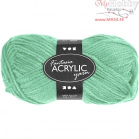 Fantasia Acrylic Yarn, L: 80 m, mint green, 50g
