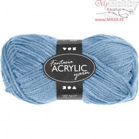 Fantasia Acrylic Yarn, L: 80 m, light blue, 50g