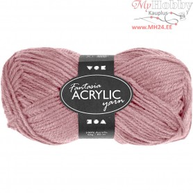 Fantasia Acrylic Yarn, L: 80 m, light red, 50g