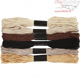 Embroidery Floss, thickness 1 mm, nature harmony, 6bundles