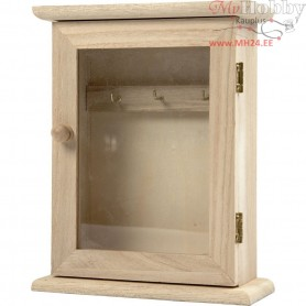 Key Cabinet, size 18x14x6 cm, empress wood, 1pc