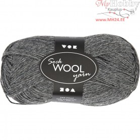 Sock Yarn, L: 200 m, dark grey, 50g