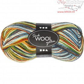 Sock Yarn, L: 200 m, multi color harmony, 50g