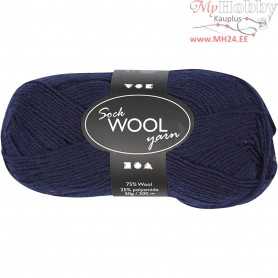 Sock Yarn, L: 200 m, dark blue, 50g