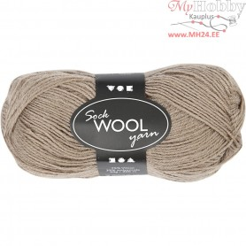 Sock Yarn, L: 200 m, light brown, 50g