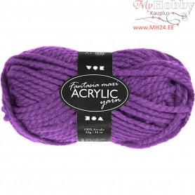 Fantasia Acrylic Yarn, L: 35 m, purple, Maxi, 50g