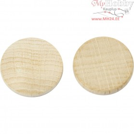 Wooden buttons, D: 20 mm, thickness 4,6 mm, china berry, 200pcs
