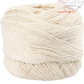 Mercerized Cotton Yarn, off-white, 20g